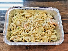 Seafood Pasta (knightbefore_99) Tags: takeaway tasty takeout food awesome work lunch vancouver bc delicious great seafood pasta minoas taverna greek shrimp art best calamari
