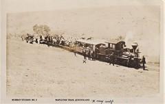 Tram at Mapleton, Qld - circa 1915 (Aussie~mobs) Tags: tram train mapleton queensland australian vintage picnic daytrip outing locomotive group