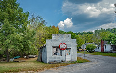 Hand Painted Coke Sign (Bob G. Bell) Tags: coke cocacola advertising store cornerstore clouds nikon d750 bobbell wv greenbrier