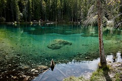Grassi lakes (Jamie Kerr) Tags: mountains reflection water hike adventure explore alberta canmore grassilakes explorealberta exploreab grassilaketrail colors canon canonrebelxti
