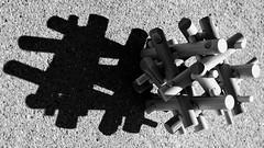 1 Shadow Many Parts (Robert Cowlishaw (Mertonian)) Tags: canon shadows powershot melancholy torpor markiii acedia bypl mertonian g1x backyardphotolab canonpowershotg1xmarkiii concrete cement lateafternoon objex robertcowlishaw