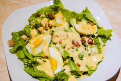 A healthy egg salad plate with creamy sauce (wuestenigel) Tags: egg parmesan stockphotography restaurant digitalnomad plating tasteful bacon salad healthy food closeup foodphotography tasty spinach reiseblogger stockphoto mayonnaise crumbs hardboiled yummy cheese delicious 2019 2020 2021 2022 2023 2024 2025 2026 2027