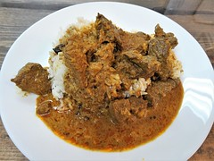 Beef Satay (knightbefore_99) Tags: takeaway tasty takeout food awesome work lunch vancouver bc delicious great beef satay laksa king hastings burmese rice art hot spicy asian