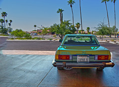 Every Car in Los Angeles, 1978 (oybay©) Tags: mercedes benz mecedesbenz 450sl roadster low miles rare color apricot palomino mbtex mercedesmotoringcom jg francis car vintage classic auto pristine 1978 automoble mb isolation perspective lighting