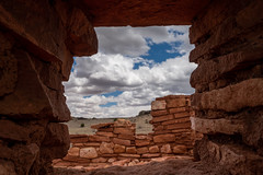 Through the window Chaco Canyon (HikerLore) Tags: blue ruin ruins chacocanyon sky red desert window clouds nationalpark nationalmonument lines historic ancient old abandoned sonya7riii