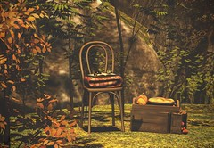 Time For Pie (Jamee Sandalwood Photography) Tags: secondlife shadows outdoors outside outsdie orange fall arts artist pixel photography photos landscape autumn harvest