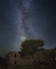 Milky Way Abandoned Farm 6827 A (jim.choate59) Tags: jchoate on1pics milkyway stars night nightsky sky dark abandoned house spooky scary longexposure d610 bakercityoregon nightphotography summersky oncewashome deadoxranch