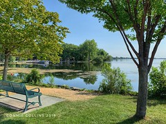 August 2 - taking a moment to pause (Basildon Kitchens) Tags: princeedwardcounty summer bayofquinte belleville park reflection bench