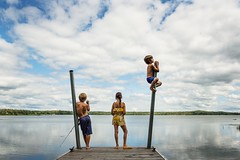 Very typical, two kids fishing, one happily doing his own thing:) (Elizabeth Sallee Bauer) Tags:
