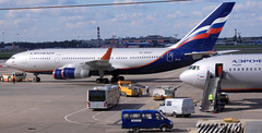 East meets West! (Jaws300) Tags: moscow sheremetyevo remotestand airbridgecargo jumbojet aeroflot ra96007 aeroflotrussianairlines ilyushin il96 russian airlines ilyushin96 eos500d canon500d svo uuee amayorov амайоров mayorov майоров russia so ps90a su international airport fly air airplane airways soviet canon 500d eos moscowsheremetyevoairport moscowsheremetyevo aircraft jet ramp apron stand terminal parked parking afl b767300er b767300 b767 boeing skyteam b747 b747400f b747f b744f b744 b747400 freighter freight cargo bridge freightdog wfu withdrawn from use withdrawnfromuse derelict retired stored history historic vpbaz