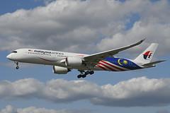 9M-MAG Airbus A350-941 EGLL 20-08-19 (MarkP51) Tags: 9mmag airbus a350941 a350 malaysianairlines mh mas london heathrow airport lhr egll england airliner aircraft airplane plane image markp51 nikon d500 nikon24120f4vr sunshine sunny