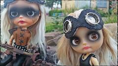 Adrian and Helen (Motor City Dolly) Tags: custom ooak blythe doll alpaca reroot mad max post apocalyptic art sandra coe