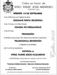 Programa de actos y cultos de Ntro Padre Jesus 2019 (M. Jalón) Tags: actos cultos honor ntro padre jesús nzareno porcuna 2019