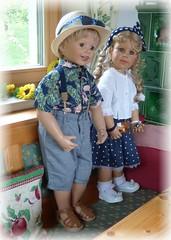Luis und Bärbel (ursula.valtiner) Tags: puppe doll luis bärbel künstlerpuppe masterpiecedoll