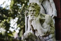 contemplate existence (Strange Artifact) Tags: graveyard zutphen captureonepro1212 statue honor green concrete grave