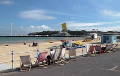 Summer hasn't quit, yet (petersnapsnap) Tags: weymouth seafront deckchairs beach