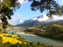 IMG_1428 (nae2409) Tags: river mountain landscape punakha bhutan