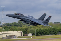 USAF F-15E Strike Eagle at the Royal International Air Tattoo 2019 (JetPhotos.co.uk) Tags: airdisplay airshow aircraft bobsharples flying military raffairford riat royalinternationalairtattoo aviation wwwjetphotoscouk f15e f15 strikeeagle 48thfw 48thfighterwing 494thfs 494thfightersquadron mcdonnelldouglas multirole fighter highspeedinterdiction cap combatairpatrol closeairsupport