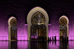 Sheikh Zayed Grand Mosque, Abu Dhabi (maksudulpunom) Tags: sheikhzayedgrandmosque abudhabi uae peace islam middleeast unitedarabemirates beauty colours night lowlight purple