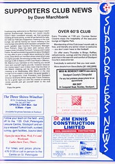 Stockport County vs Scarborough - 1991 - Page 27 (The Sky Strikers) Tags: stockport county scarborough barclays league division four edgeley park welcome to the friendly football club official programme 80p