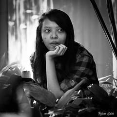 Waiting (by Rsaleh) Tags: indonesia yogyakarta humaninterest blackandwhite