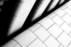 Dortmund 4/3571 (KnutAusKassel) Tags: fineart art bw blackandwhite blackwhite nb noirblanc monochrome black white schwarz weiss blanc noire blanco negro schwarzweiss grey gray grau einfarbig dortmund architektur architecture building gebäude abstrakt abstract lines linien diagonale diagonal