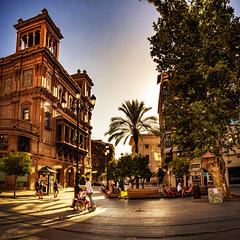 Sevilla, Avenue de la Constitucion explored (Bilderschreiber) Tags: sevilla avenue de la constitucion andalusien andalusia andalucia spain spanien espania evening abend backlight gegenlicht seville