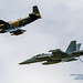 HFM Skyraider Leading the Legacy Flight Growler Around the Skagit Clouds
