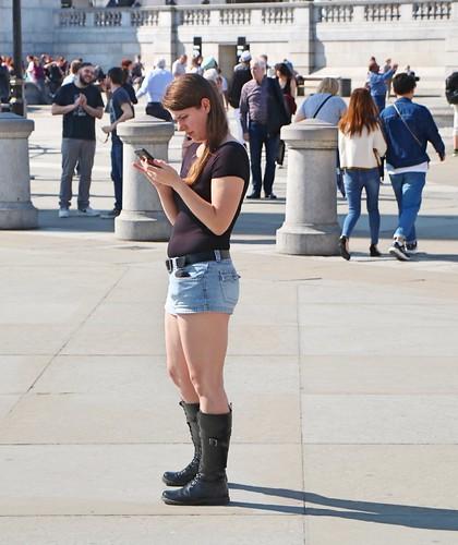 Trafalgar Square Tourist