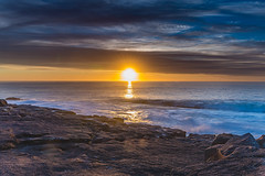 Colourful Sunrise Seascape (Merrillie) Tags: holidays natural sunrise merimbula nature australia newsouthwales sea sapphirecoast nsw ocean shortpoint coastal colours sky seascape colourful begavalleyshire landscape coast