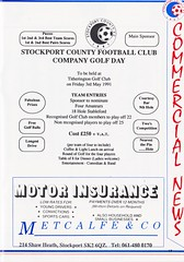Stockport County vs Scarborough - 1991 - Page 17 (The Sky Strikers) Tags: stockport county scarborough barclays league division four edgeley park welcome to the friendly football club official programme 80p