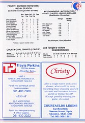 Stockport County vs Scarborough - 1991 - Page 21 (The Sky Strikers) Tags: stockport county scarborough barclays league division four edgeley park welcome to the friendly football club official programme 80p