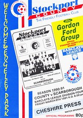 Stockport County vs Scarborough - 1991 - Cover Page (The Sky Strikers) Tags: stockport county scarborough barclays league division four edgeley park welcome to the friendly football club official programme 80p