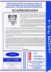 Stockport County vs Scarborough - 1991 - Page 3 (The Sky Strikers) Tags: stockport county scarborough barclays league division four edgeley park welcome to the friendly football club official programme 80p