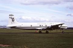 G-SIXC DC6 Atlantic Cargo CVT February 1995 (cvtperson) Tags: gsixc dc6 atlantic cargo coventry airport cvt egbe