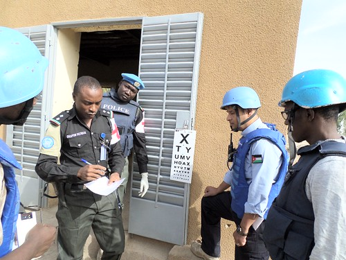 UN peacekeepers having their vision screened whilst in the battlefront in Mali!