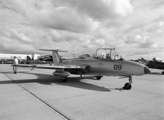 L-29 Dolphin (LarsHolte) Tags: 645 pentax pentax645 645n blackandwhite bw 120 film monochrome analog mediumformat denmark dolphin jet ishootfilm 120film f45 airshow analogue rodinal 6x45 danmark trainer foma 100iso filmphotography fomapan l29 classicblackwhite homeprocessing aph09 filmforever smcpentaxfa 4585mm fomapan100classic larsholte roskilde