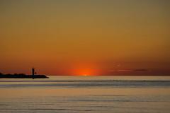 Day Breaks (KWPashuk (Thanks for >3M views)) Tags: nikon d7200 tamron tamron18400mm lightroom luminar luminar2018 luminar3 luminar31 kwpashuk kevinpashuk sunrise dawn morning horizon lighthouse silhouette lake water seascape beach oakville ontario canada