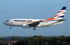 smartwings Boeing 737-7Q8 OK-SWW (RuWe71) Tags: smartwings travelservice qstvs skytravel czechrepublic prague boeing boeing737 b737 b737700 b7377q8 boeing737700 boeing7377q8 oksww cn282541283 eieuu haloa brusselsairport brusselszaventem brusselszaventemairport brusselzaventem zaventem ebbr bru narrowbody twinjet landing runway sunshine