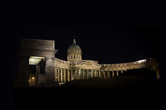 Kazan Cathedral (explored 14/09/2019) (monorail_kz) Tags: kazan cathedral church russia orthodox architecture night building travel tourism sightseeing saintpetersburg samyang2814mm wideangle
