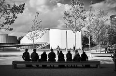 in line (Elmar Egner) Tags: autostadt leicasl summarit 35 street streetphotography monochrome leicasl2 sl2