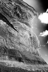 enlightenment (the ripped bystander) Tags: blackwhite cliffs sky clouds normandy