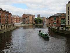 River Aire, Leeds 2019 (Dave_Johnson) Tags: riveraire river aire leedsriver water barge narrowboat boat