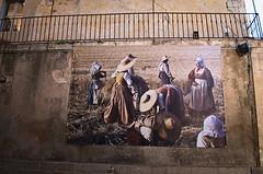 Les moissons (Phil_Heck) Tags: représentation rue street moisson déco patrimoine poster illustration histoire mémoire toile scène paysan champs travaux