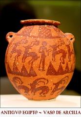 Antiguo Egipto. Vaso de arcilla