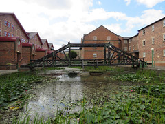 Victoria Quays, Leeds 2019 (Dave_Johnson) Tags: riveraire river aire leedsriver water bridge narrowboat boat barge victoriaquays victoriaquay victoria quay quays wildlife heron bird