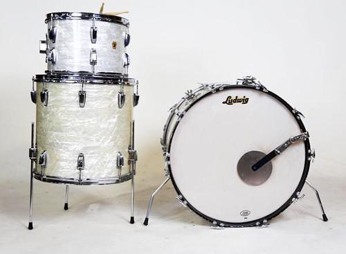 Nice Mid-Century Modern Ludwig Drum Set ($672.00)