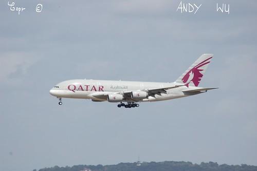 Airbus A380 Qatar Airways (08/10/2019)