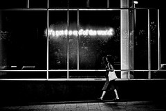 Not the End of the World (TransientEye) Tags: leica m7 kodak 400tx ilford id11 zeiss zm1550 barcelona dark film blackandwhite streetphotography night