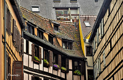 Strasbourg (Anavicor) Tags: estrasburgo strasbourg alsace alsacia france francia ciudad town ville capital casas house maison nikon d5300 anavicor villarcorreroana anavillar window fenêtre ventana flower fleur flor roof tejado toît buhardilla attic grenier europe